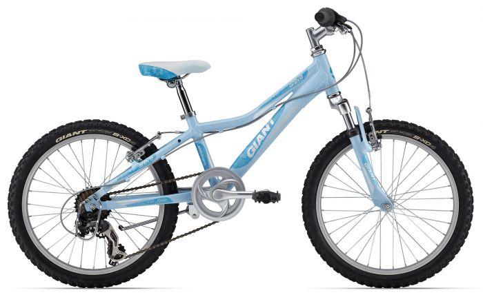 Цвет велосипеда: Голубой велосипед Giant Areva 2 20