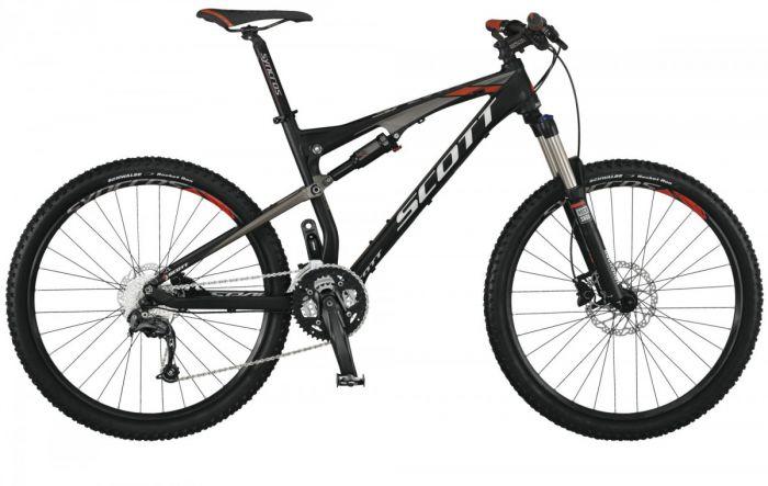 Цвет велосипеда: Черный велосипед Scott Spark 660