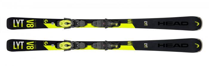Горные лыжи Head V-Shape V8 + Крепление PR 11 GW  (2020)
