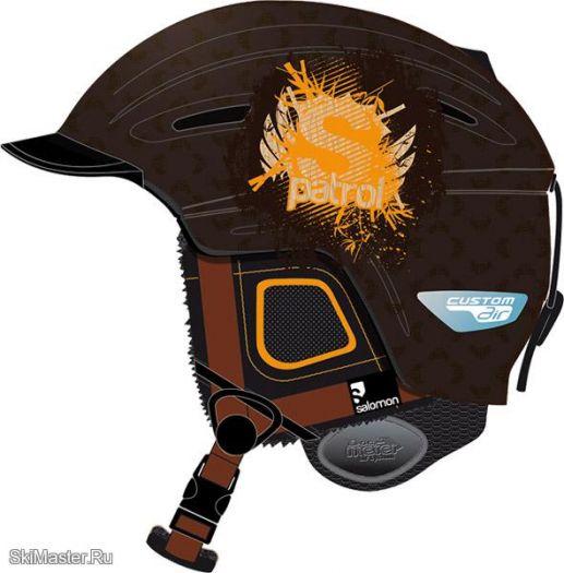 Горнолыжный шлем Salomon PATROL CUSTOM AIR (Brown Matt) (2011)