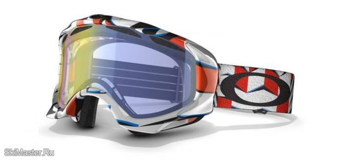 Маска Oakley Twisted Cubism Red /H.I. Yellow (2012)