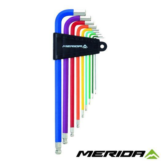 Набор ключей шестигранников Г-образных Merida Colorful