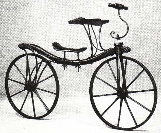 История развития велосипеда. Старинный велосипед dandy-horse.