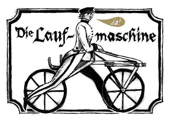 История велосипеда. Laufmaschine