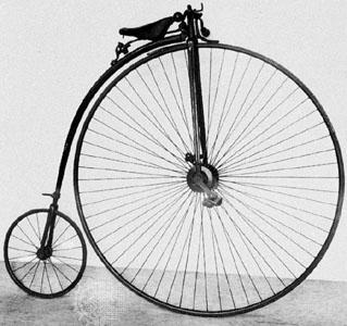 История развития велосипеда - велосипед «penny-farthing» пенни-фартинг