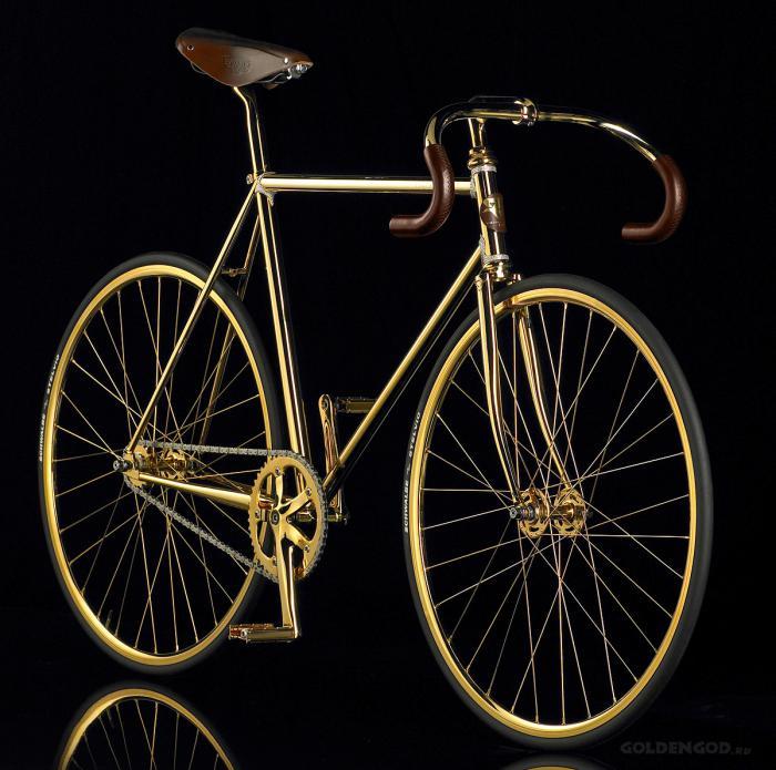 Самые дорогие велосипеды: Aurumania Crystal Edition Gold Bike