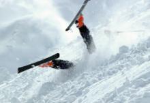 Как падать на лыжах